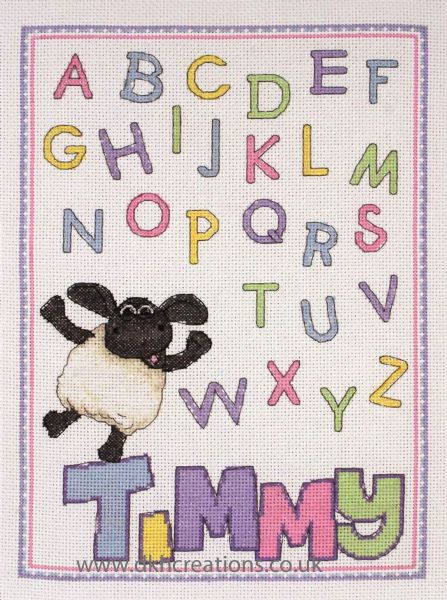 Timmy Time Timmys ABC Cross Stitch Kit